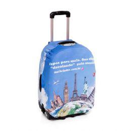 Já imaginou sua marca viajando pelo Mundo?! Capa para mala. Em tecido elástico para melhor ajuste.  Impressão total digital – quantidade 50 peças – va...