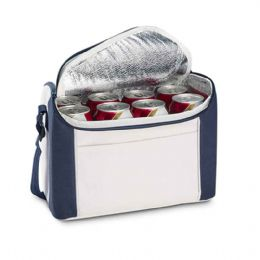 Bolsa térmica. 600D. Alça ajustável. Capacidade: 8 latas de 0,5 L. 270 x 200 x 160 mm.