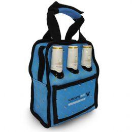 Lancheira térmica de neoprene toda sublimada (20x23x12 cm) porta garrafas ou latas, com bolso (16x11cm) e com ou sem furo para garrafas.