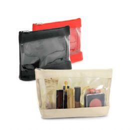 Bolsa de cosméticos 92714 personalizada Material: Microfibra e janela em PVC transparente Medidas: 170 x 105 x 60 mm