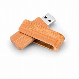 Pen drive.  Bambu.  Capacidade: 16GB. 59 x 19 x 12 mm