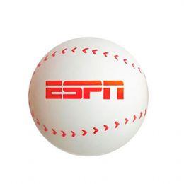 Bolinha anti-stress personalizada em formato de bola de baseball. É o brinde personalizado ideal para seu evento.