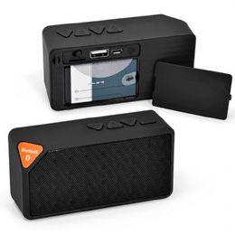 Caixa de som para notebook personalizada com impressão em silkscreen. Com entrada micro SD, bateria recarregável com duração de até 02 horas e radio F...