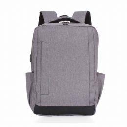 Mochila de nylon com compartimento principal com bolso para notebook 15.6 polegadas, possui divisórias para documentos e caneta, compartimento frontal...