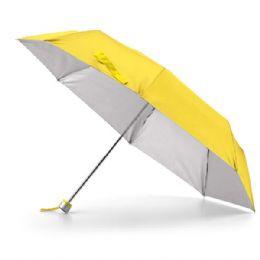 Guarda chuva dobrável em poliéster 190. Dobrável em 3 partes. Fornecido com capa protetora