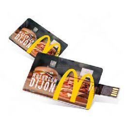 Pen card com gravação digital dois lados e diversas capacidades de memória.