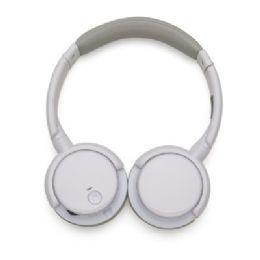 """Headphone wireless com haste ajustável e fones giratórios, """"tiara"""" e protetor de ouvido em couro sintético revestido de espuma. Frequência de resposta..."""