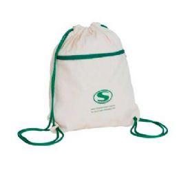 Mochila saco feita de lona 100% ecológica com zipper, com baixo custo, ótimo acabamento e amplo espaço para promover sua marca em campanhas promociona...