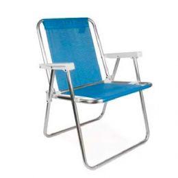 Cadeira dobrável e fácil de carregar, suportando até 110kg  Altura: 72,50 Largura: 54,50 Comprimento: 53,00 Peso:2.07