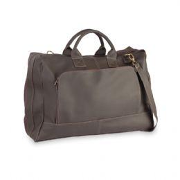 Bolsa de couro ecológico, alça regulável, bolso interior, bolso frontal. Abertura total. Medidas: Larg: 60cm x Alt: 40cm x Prof: 20cm.