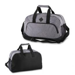 Bolsa esportiva em Nylon Poliéster com alça de mão. Bolso frontal e lateral. Medida aproximada 49 x 23,5 x 28 cm