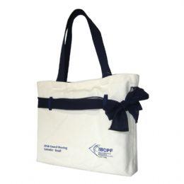 Bolsa / Ecobag personalizada em lona de algodão cru (artigo 390 gr / m²) - Compartimento com acesso livre - Acompanha lenço leve que transpassa por pa...
