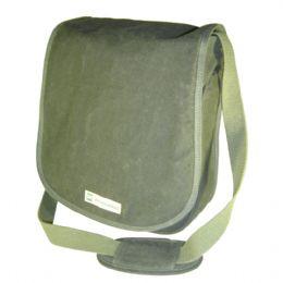Mochila Ecológica Personalizada em lona de algodão, colorida verde-musgo ou lona reciclada de cargas de caminhão - Com compartimento móvel protetor pa...