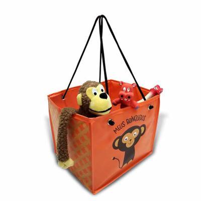 Ato Produtos Promocionais - Porta brinquedo dobrável, com forro e ilhós. Medidas: 30cm(L) x 26cm(A) x 26cm(F)