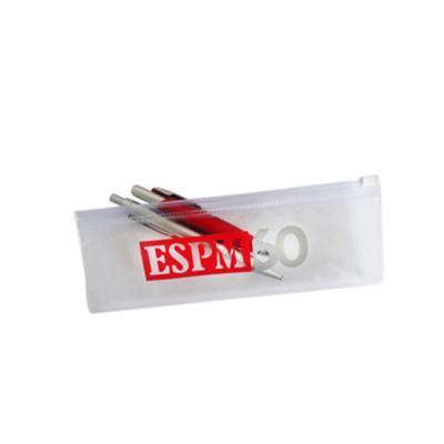 Ato Produtos Promocionais - Estojo em PVC cristal e fechamento em zíper.