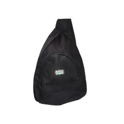 Ato Produtos Promocionais - Mochila transversal em poliéster com bolso frontal.