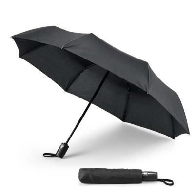 MatBrindes - Guarda-chuva dobrável personalizado. Produzido em tecido pongee 190T. Pega revestida a borracha. À prova de vento. Dobrável em 3 secções. Abertura e f...