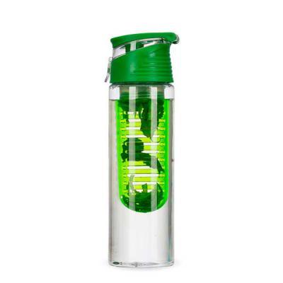 MatBrindes - Squeeze/ Garrafa plástica com infusor personalizado. Possui recipiente interno para infusor de frutas, deixando a bebida com o gostinho especial.. Mui...