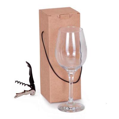MatBrindes - Kit taça com caixa e abridor de garrafa