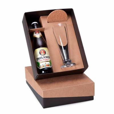 MatBrindes - Kit cerveja caixa, garrafa e copo