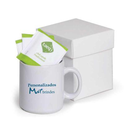 MatBrindes - kit chá e caneca