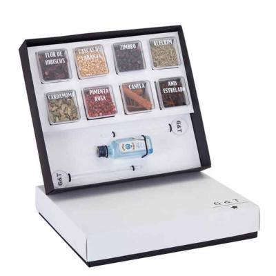 MatBrindes - Kit Gin personalizado um super presente para seus clientes e colaboradores! Incluso: 1 mini Gin Inglês bombay, 2 mexedores de drink, 8 especiarias de...