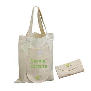 matbrindes - Sacola ecológica retornável, confeccionada em algodão cru.