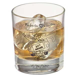 Print Maker - Copo de vidro para whisky modelo Atol, com capacidade para 310 ml.