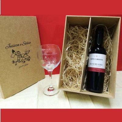print-maker - Kit vinho com taça personalizada.
