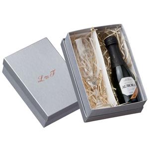 Print Maker - Kit champagne com 1 taça de vidro e 1 espumante Aurora 187 ml.