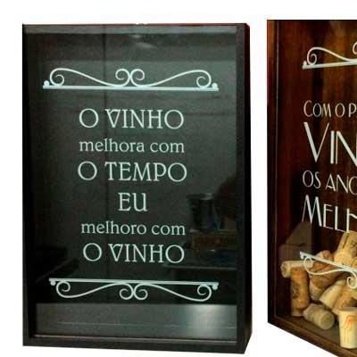 Print Maker - Quadro porta rolhas de vinho