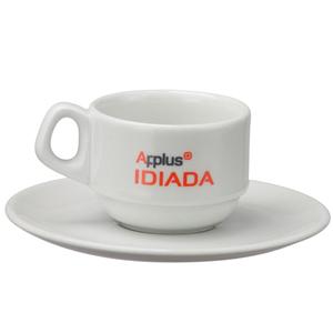 Print Maker - Xícara de porcelana para café, modelo Empilhável, capacidade 80 ml.