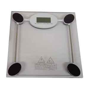 CZK brindes - Balança Personalizada em vidro - Medidas: 28 x 28 x 3,5 cm.