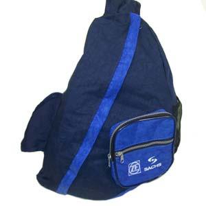 CZK brindes - Bolsa mochila transversal personalizada em nylon estonado.