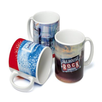 CZK brindes - Caneca personalizada de porcelana. Sua marca presente no dia a dia dos clientes.
