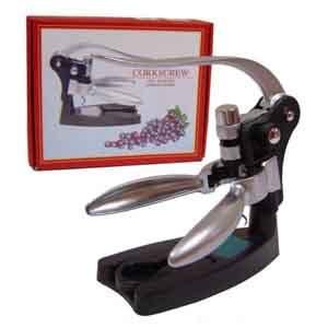 CZK brindes - Kit Vinho Personalizado - Saca rolhas em metal - Medidas: 8,5 x 15 x 7,5 cm.