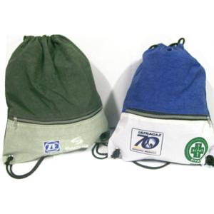 CZK brindes - Saco mochila personalizado em nylon estanado.