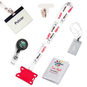 Pulcor - Cordão multiuso para Crachá, Clips Retrátil, Porta Crachá rígido e flexível.