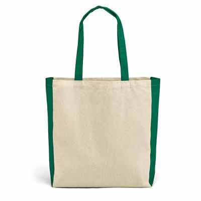 A.C.O. Brindes - Sacola confeccionada em 100% algodão com a gramatura de 140 g/m² e alças de 65 cm com  detalhes na alça e lateral com tecido colorido