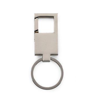 Marca Laser - Chaveiro retangular personalizado em metal tipo mosquetão.