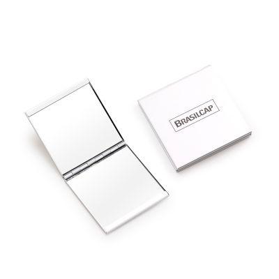 Marca Laser - Espelho duplo em alumínio - med. 60x 60x 7mm