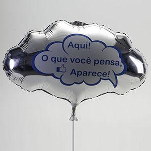 Universo dos Balões - Balão metálico, formato de pensamento