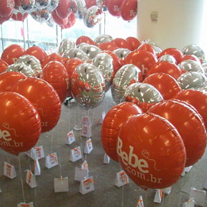 Universo dos Balões - Balão metalizado com gravação personalizada.