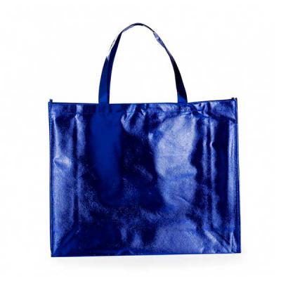 Skill Brindes Promocionais - Sacola TNT Metalizada azul