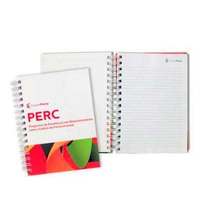 Skill Brindes Promocionais - Caderno capa dura folhas pautadas brancas