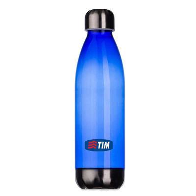 Skill Brindes Promocionais - Squeeze plástico 700ml formato garrafa. Corpo transparente colorido, possui tampa e base em alumínio, com gravação UV.  Altura :  25,5 cm  Largura :...