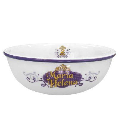 Mãos & Arte - Bowl em Porcelana personalizável. Pode vir com ou sem filete colorido. Capacidade: 600ml