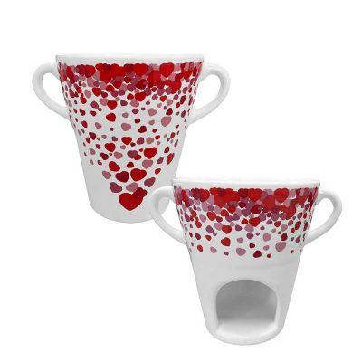 Mãos & Arte - Caneca para fondue de cerâmica 250 ml.