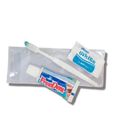 Madson Brindes - Kit de higiene bucal com estojo em PVC em diversas cores, em material sintético, fio dental opcional. Adquira já o seu e garanta sua higiene bocal!