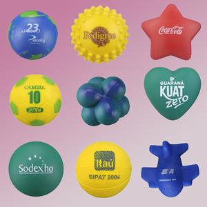 Madson Brindes - Anti Stress em Vinil ou Poliuretano em diversos formatos e cores.